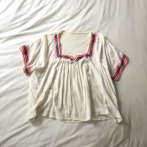 Forever 21 Flowy Embroidered Tunic
